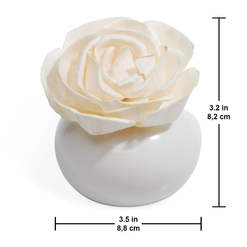 romance collection flower diffuser size