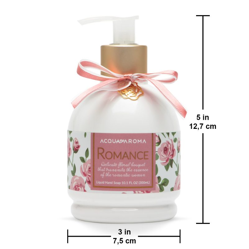 romance liquid hand soap size