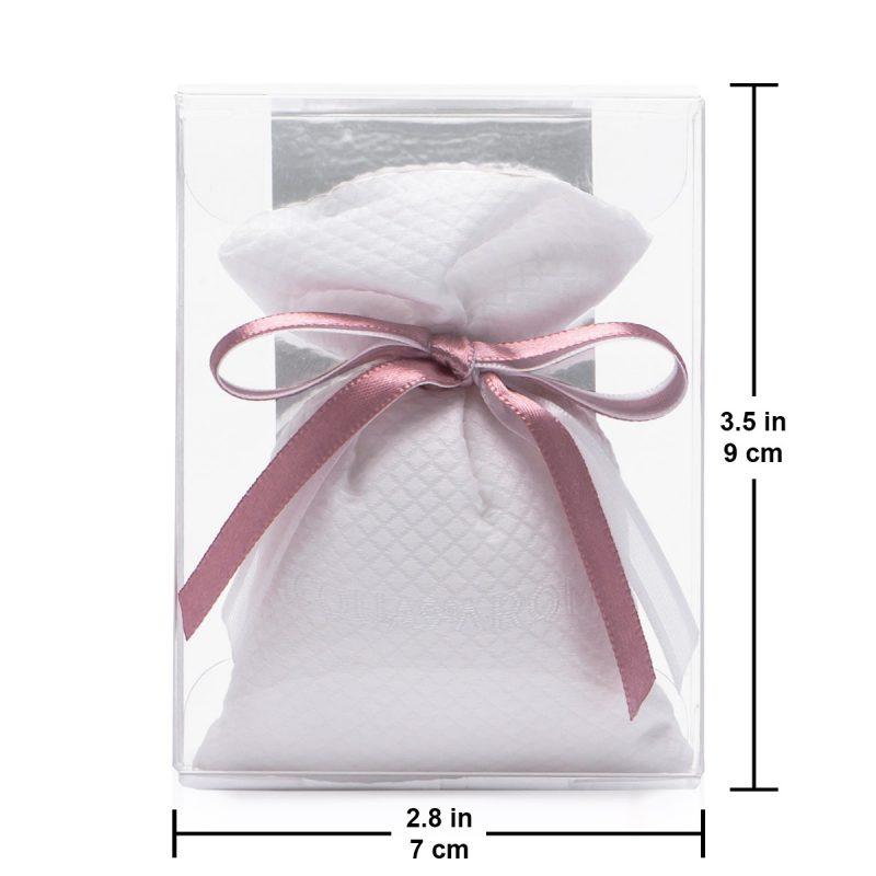 romance fabric scented sachet size