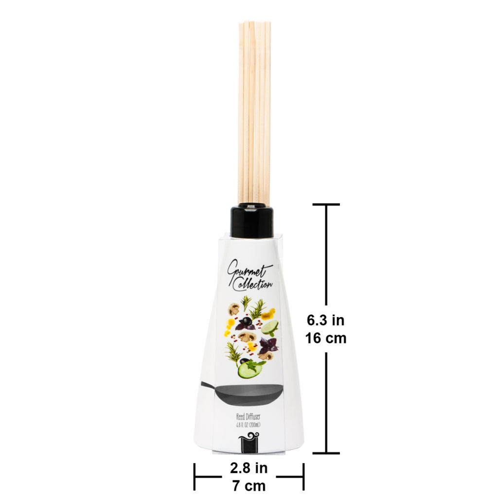 gourmet reed diffuser size